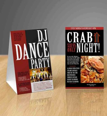 Table Tent Cards Archives Max Digital Printing - Table tent printing